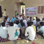 A training and follow up session at village level